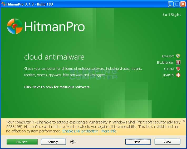 برنامج HitmanPro