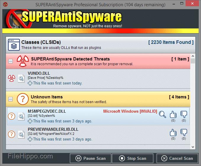 برنامج SUPERAntiSpyware