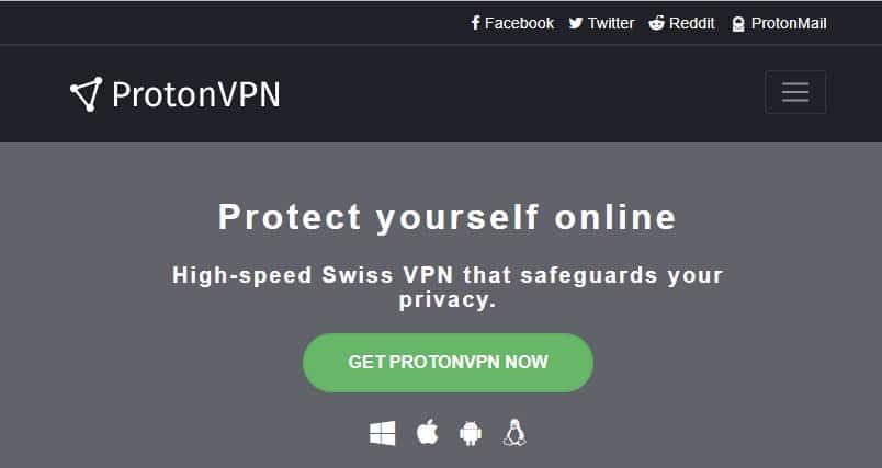 تطبيق ProtonVPN