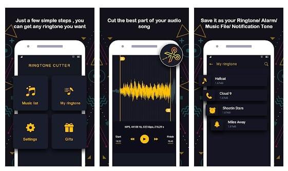 تطبيقات انشاء النغمات Ringtone Maker و تقطيع ملفات MP3 1