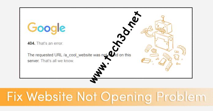 مشكلة توقف تحميل صفحات خوادم جوجل و المواقع الأخرى و كيفية حلها 1