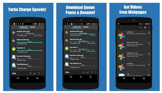 تطبيق Turbo Download Manager
