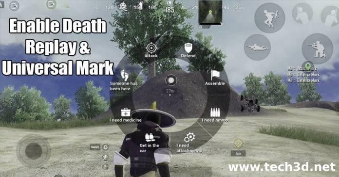 تشغيل وضعيه اعاده الموت و العلامات ببجى موبايل Death Replay - Universal Mark